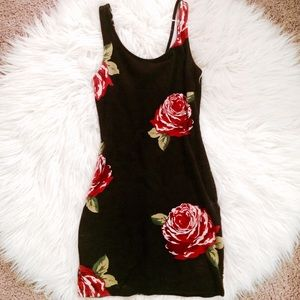 Rose AA Floral Bodycon Tank Mini Dress